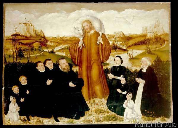 Lucas Cranach der Jüngere - Der gute Hirte