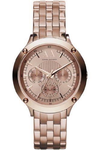 Armani Exchange  Ladies Rose Gold Capistrano Active Watch
