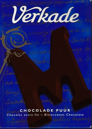 "Dutch chocolate from Verkade-used to get an ""S"" every year for St. Nicholas Day!"