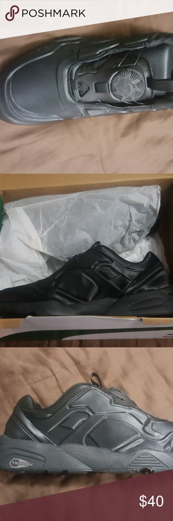 PUMA TRIPTONIC TRIPLE BLACK PUMA, dial lace HEAT SEEKERS! No laces, PUMA exclusive Dial-Tech tightening system. BRAND NEW, NEVER BEEN WORN, LOOKING FOR SALE OR TRADES!😉 Puma Shoes Sneakers