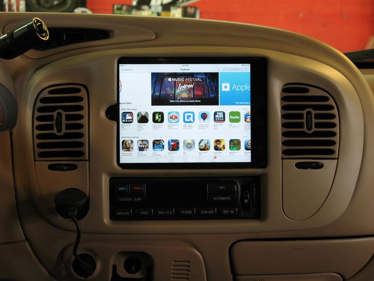 This customer came in looking to customize his older Lincoln Navigator and add today's latest and greatest technology. We custom fabricated an iPad mini into the factory radio location and mounted the Pioneer MVHX560BT multimedia receiver behind the iPad to control the system via Bluetooth. Color matched the new custom bezel to match the factory color. #Custom #iPad #Pioneer #Bluetooth #Hidden