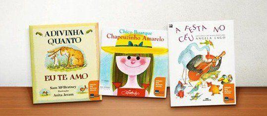 """Quem aprende a gostar de ler sabe escrever a própria história. Com esseslogana Fundação Itaú Social chamou minha atenção para a Coleção Itaú de livros infantis. A minha chegou há alguns dias e eu fiquei encantada. são três livros muito fofos e super educativos: """"A festa no céu"""", um conto folclórico de Angela Lago; """"Adivinha …"""