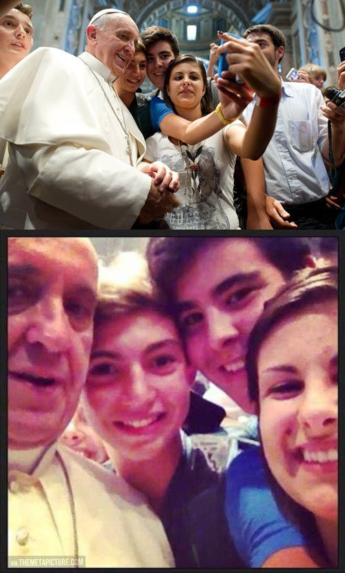 Selfie with Pope Francis---- I've never respected  a member of authority in the Catholic Church as much as I respect Pope Francis.