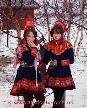 Europe: Sami girls, Norway