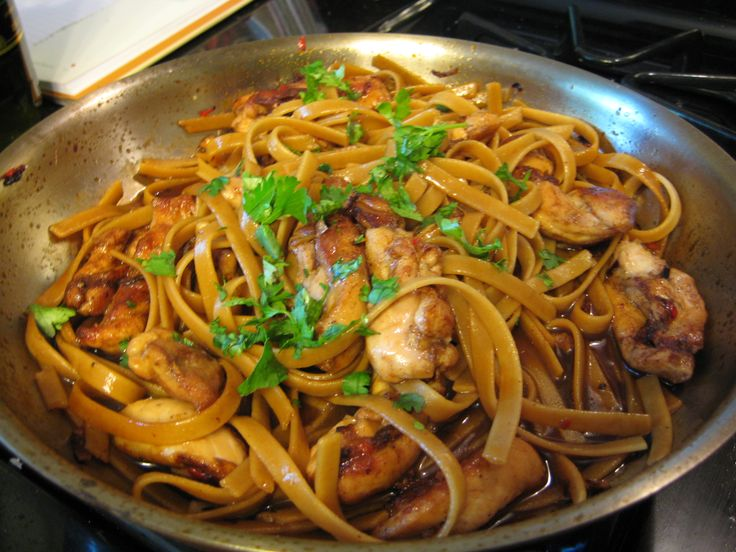 Chicken Goujon with Noodles