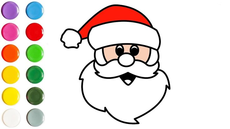 Santa Claus coloring and drawing for Kids, Toddlers ...