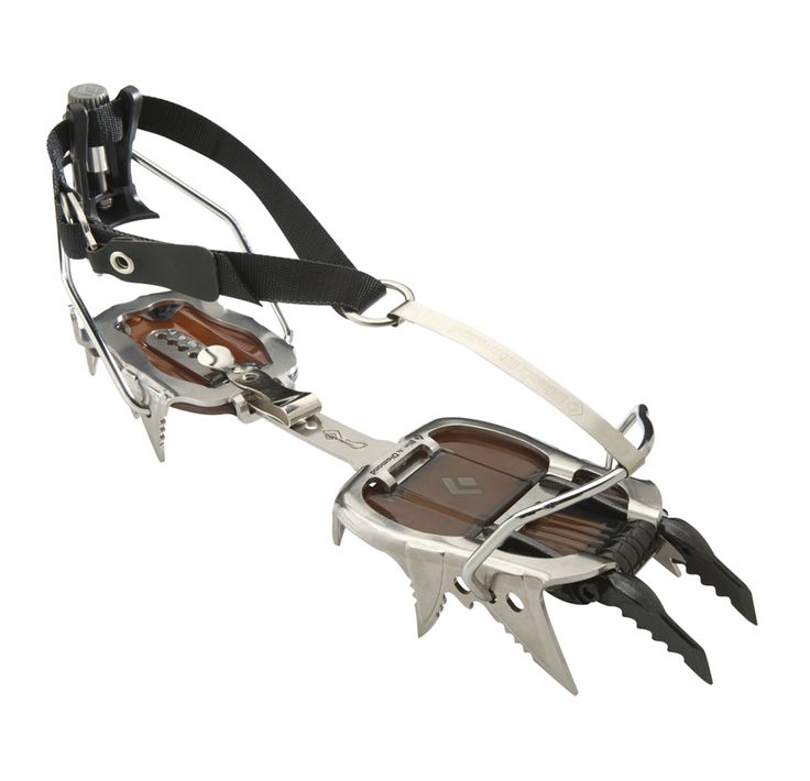 Cyborg Crampon - Black Diamond Climbing Gear. Crampons like these must be used in order to climb up shear ice portions of mountains, like Khumbu Falls on Everest. Jon Krakauer in his book Into Thin Air said your crampons and rope is all that is clinging you to life when ascending features like these