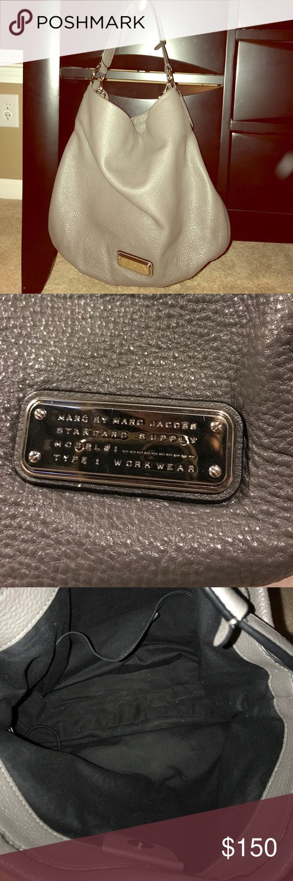 Like New! Marc by Marc Jacobs Grey Shoulder Bag Excellent condition! Gorgeous grey leather. No wear or stains. Plenty of room inside. Marc by Marc Jacobs Bags Shoulder Bags