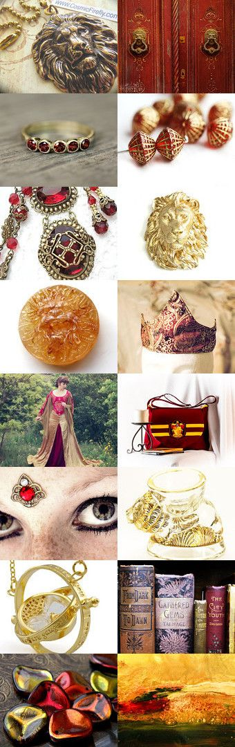"Gryffindor by Viktoria Schuster on Etsy--Pinned with TreasuryPin.com  ""You might belong in Gryffindor, Where dwell the brave at heart, Their daring, nerve and chivalry Set Gryffindors apart""  brave crimson fantasy fire geek godric gryffindor gryfiindor harry potter hogwarts jkrowling lion literature magic phoenix red and gold scarlet witchcraft wizardry"
