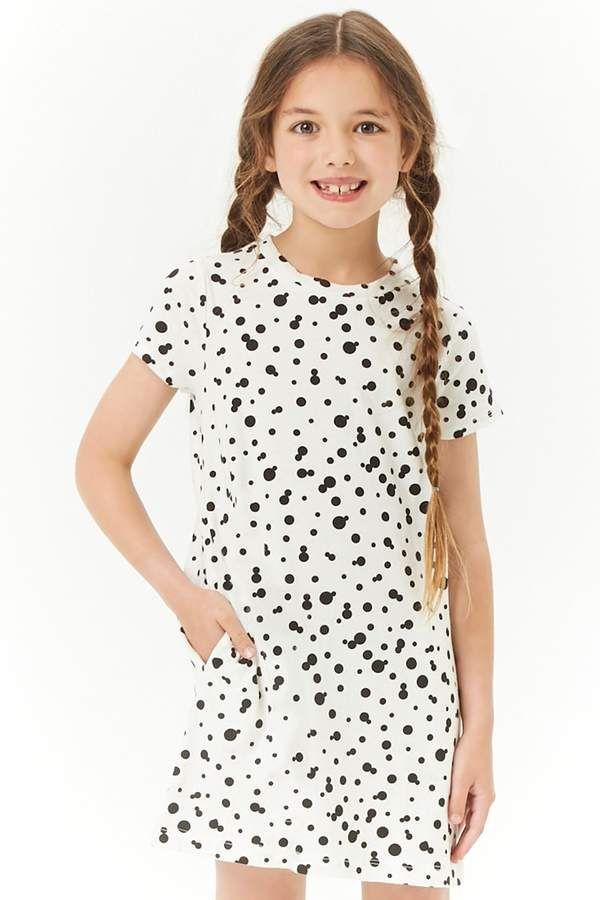 7bcf23dc7af Girls Scattered Dot T-Shirt Dress (Kids)  featuring print dot