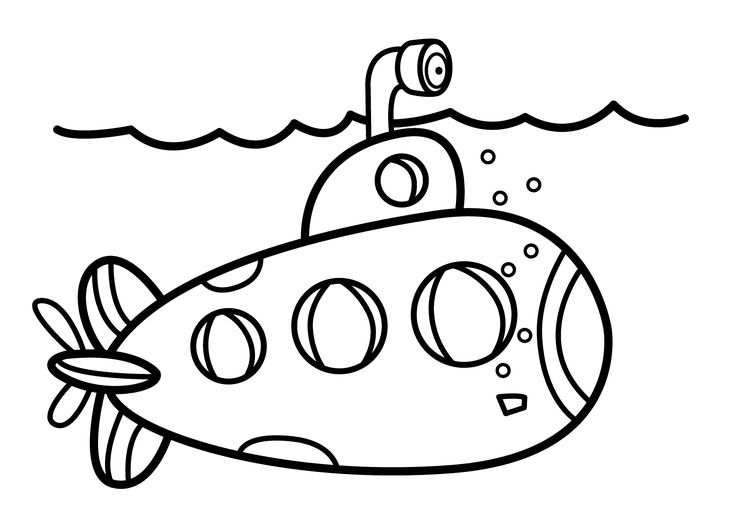 Submarine Coloring Pages Printable