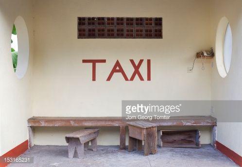 Stock Photo : Taxi waiting stop