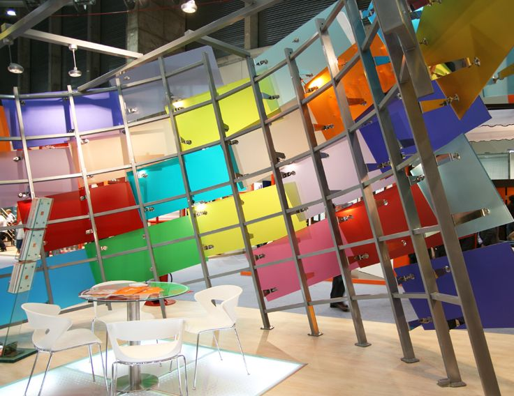 stand Berca 2008 designed by miGUEL HERRANZ glass design