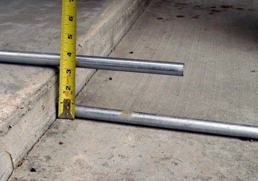 Measuring straight between the original, bottom, and temporary, top conduit the distance is exactly 3 1/8""