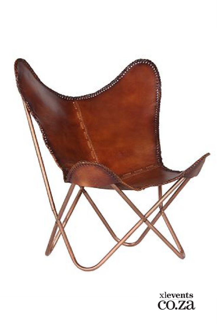 Leather Butterfly Occasional Chair available for hire for your wedding, conference, party or event. Browse our selection of chairs and furniture in our online catelogue.