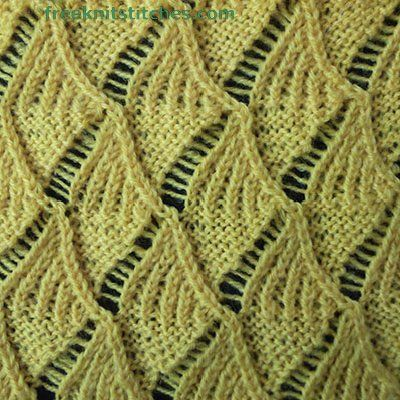 Sailing knitting stitches