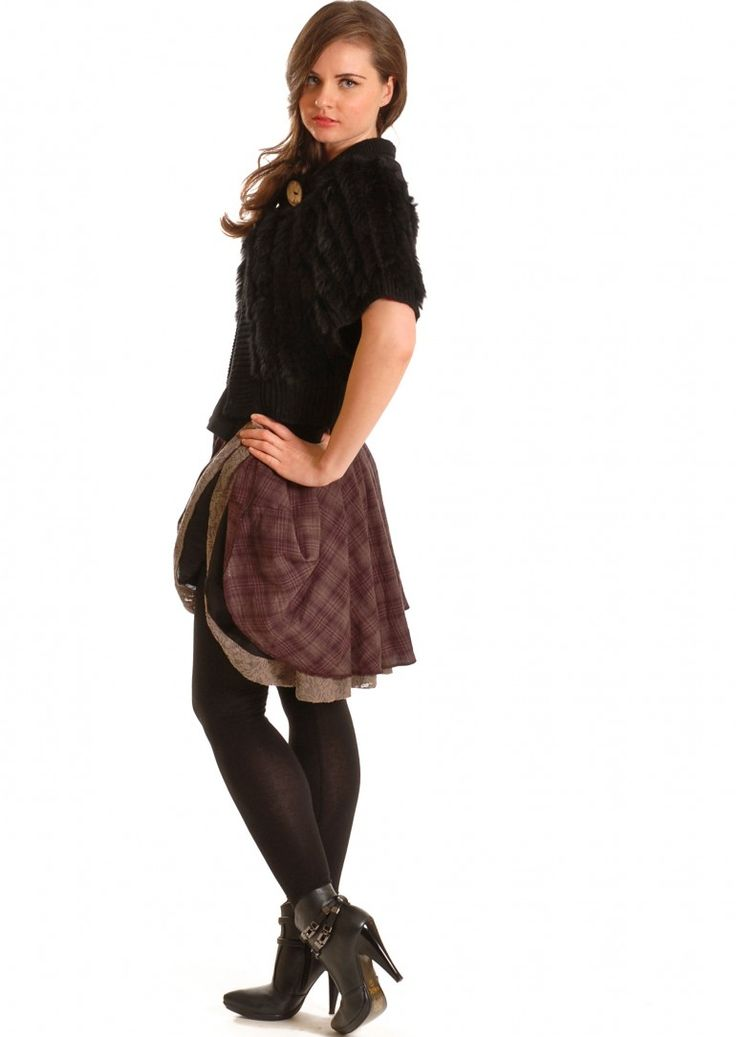 Lovely flirty burgundy Skirt from Angels Never Die    This burgundy skirt is a layered skirt with a cheeky underskirt.  This is both feminine & fashionable this season.  Wear with ankle boots, leather jacket, oversized knit or our own furry poncho.