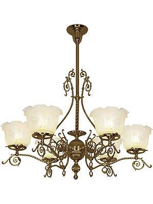 Dawson 6 Light Gas Chandelier creates a grand impression in a Victorian dining room