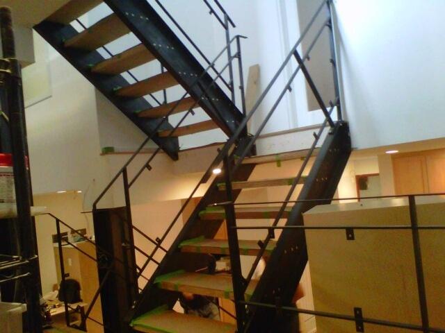 custom glass railing and blackened stairs, nyc iron work | Flickr - Photo Sharing!