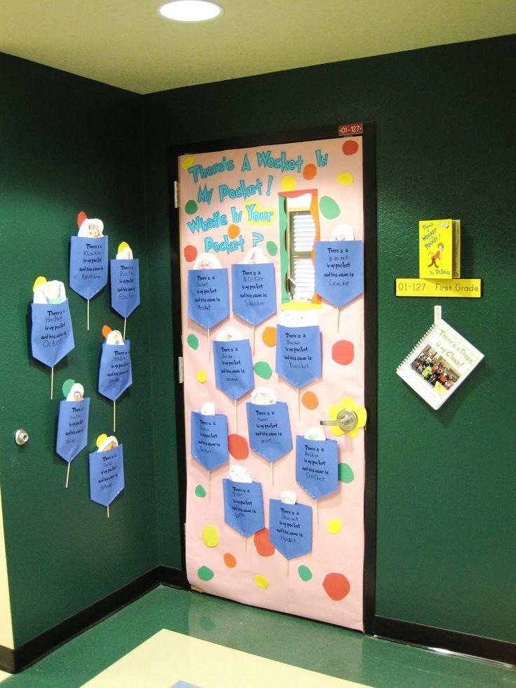 Dr seuss door decorations mrs gilchrist 39 s class for Idea door activity days