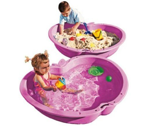#PopularKidsToys Just Added In New Toys In Store!Read The Full Description & Reviews Here - Chad Valley Pink Sand and Water Pit- 111 Litre in each pool - This adorable pink apple-shaped sand and water pit from Chad Valley is sure to be an instant hit with the young ones. Whether you fill it with water, sand or playballs, it will provide the kids with hours of garden fun. Set of two pink apple pools. Suitable for sand and water. Product supplied fully assembled. Capacity 111 l
