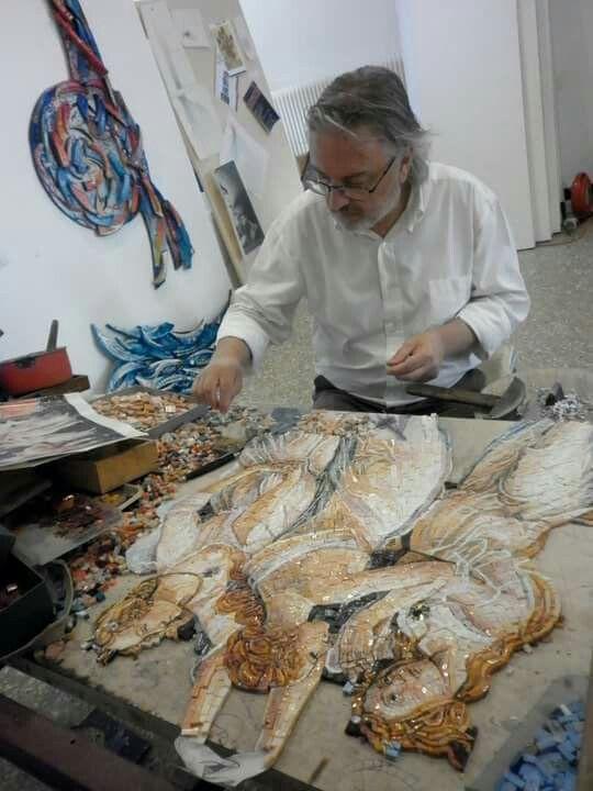 Work....PRIMAVERA DI BOTTICELLI (details)  #mosaic_menossi #mosaicodinamico