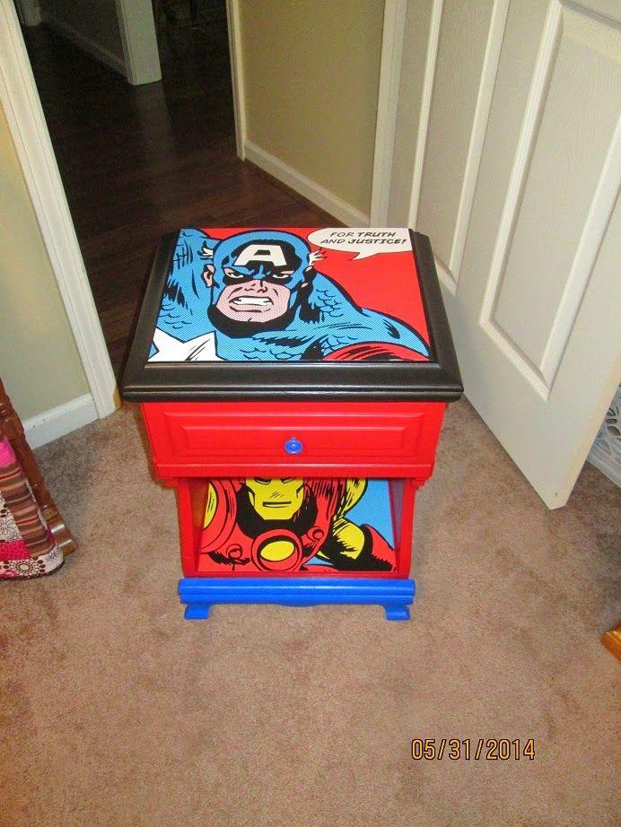 Super Hero bedside table.