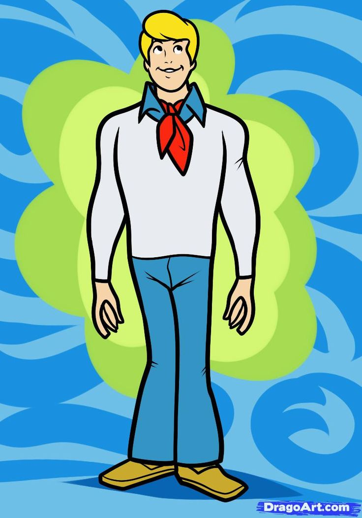 Iclone 5 Cartoon Characters : Learn to draw fred from scooby doo scoobi pinterest
