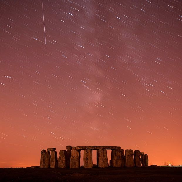 Perseid meteor shower, last night in Stonehenge, near where we live. I didn't take this, by the way. I went to bed early - like the idiot I am.