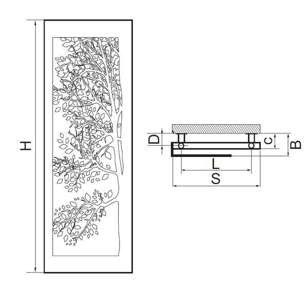 Albero Led - Rysunek Techniczny
