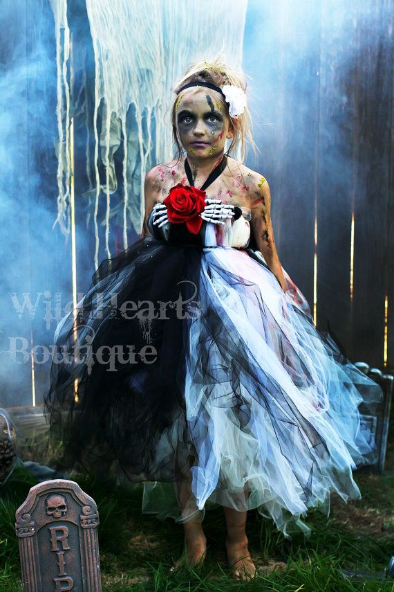The Beautiful Zombie- zombie inspired tutu dress perfect for Halloween - Zombie Walk, Walking Dead- Costume- Tutu dress on Etsy, $65.00