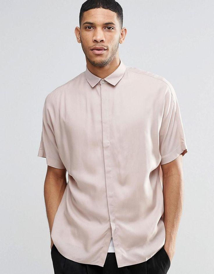 Rosa | ASOS – Oversize-Hemd in Staubrosa mit Fledermaus-Ärmeln bei ASOS