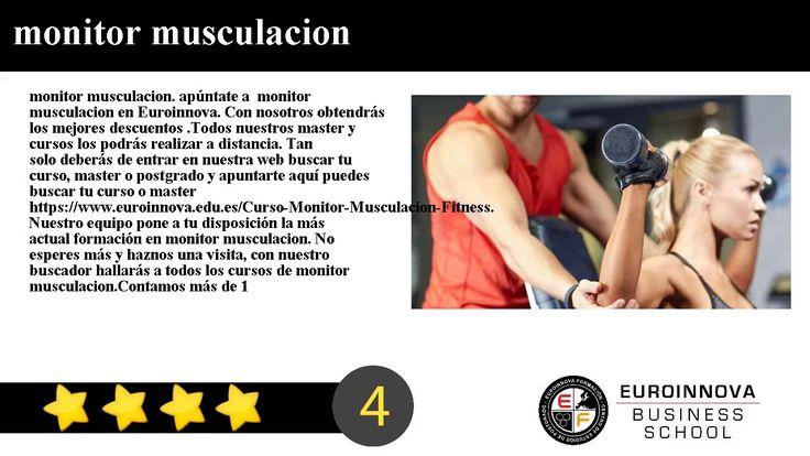 monitor musculacion - monitor musculacion. apúntate a  monitor musculacion en Euroinnova. Con nosotros obtendrás los mejores descuentos .Todos nuestros master y cursos los podrás realizar a distancia.     Tan solo deberás de entrar en nuestra web buscar tu curso master o postgrado y apuntarte aquí puedes buscar tu curso o master https://www.euroinnova.edu.es/Curso-Monitor-Musculacion-Fitness.     Nuestro equipo pone a tu disposición la más actual formación en monitor musculacion. No esperes…