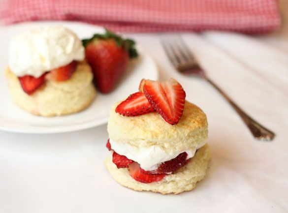 ... | Biscuit and Shortcake Recipe Collection | Strawberry Shortcakes