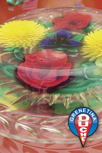 Beautiful floral edible bouquet - gelatin cake