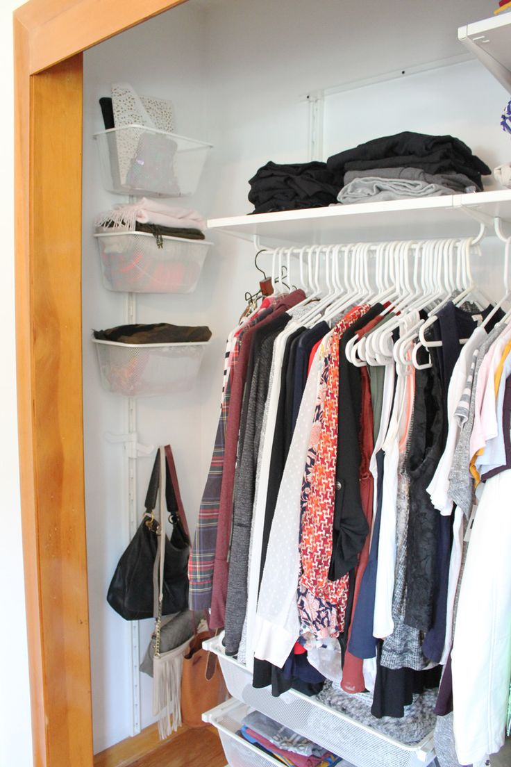 How to organize a small closet using the IKEA Algot System