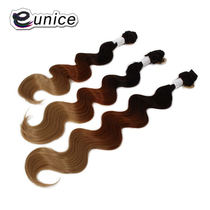 "1pack Ombre Body Wave Hair Bundles T1B/#4/#30 Honey Blonde Color Synthetic Hair Extensions Double weft 18""20""22"""