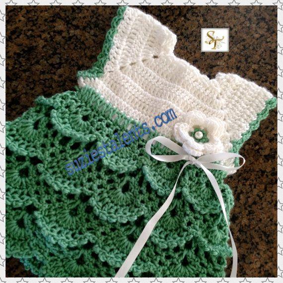 PATTERN PT071  Crochet Baby Dress Baby Dress by PatternsDesigner, $6.50