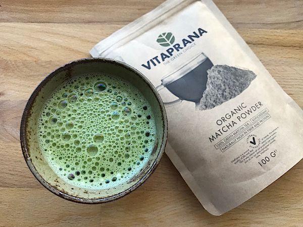 Grön matcha latte