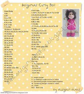 Amigurumi Aşkına-Örgü Oyuncaklarım: Kıvırcık Saçlı Bebek Tarifi-Yapılışı