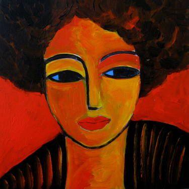 "Saatchi Art Artist Nelly Van Nieuwenhuijzen; Painting, ""Latin Lady"" #art"