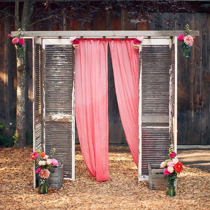Diy Outdoor Wedding Altar: Doors, Shutters, & Windows