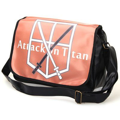 Attack on Titan Training Corps Symbol Pattern Training Corps Symbol Pattern Tote Bag/Satchel -  Brown with Black #CLICK! #clothing, #shoes, #jewelry, #women, #men