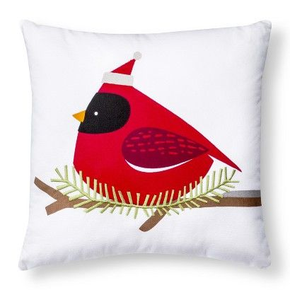 Target Decorative Christmas Pillows : Decorative Cardinal Pillow - Red -- TARGET $14.99 in-store pickup Bailey Pinterest Search ...