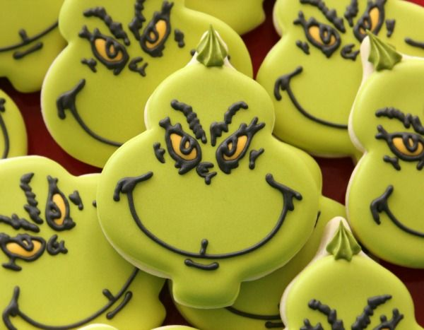 Decorated Grinch Cookies by Sweet Sugarbelle
