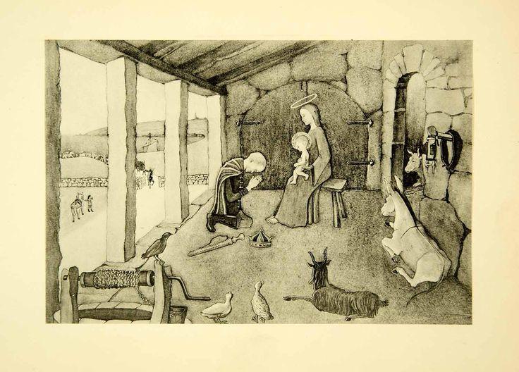 1931 Collotype Joan Manning-Sanders Adoration Kings Madonna Religious Art XAAA9