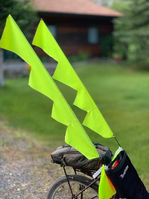 Bike Flags Etsy In 2020 Bike Flag Design Trike