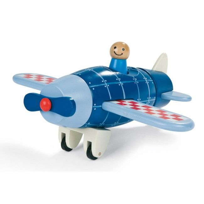 Janod - Wooden Plane Puzzle  My little boys love vehicles and would adore this plane #entropywishlist #pintowin