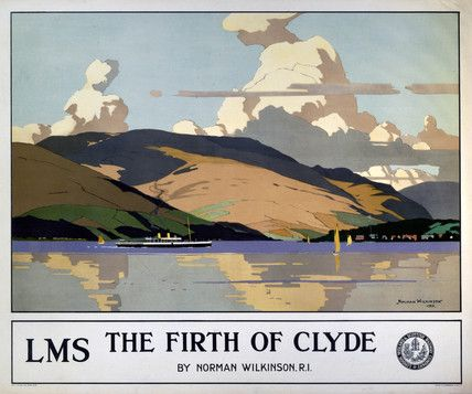 The Firth Of Clyde, Norman Wilkinson Travel Railway Poster Print by LMS