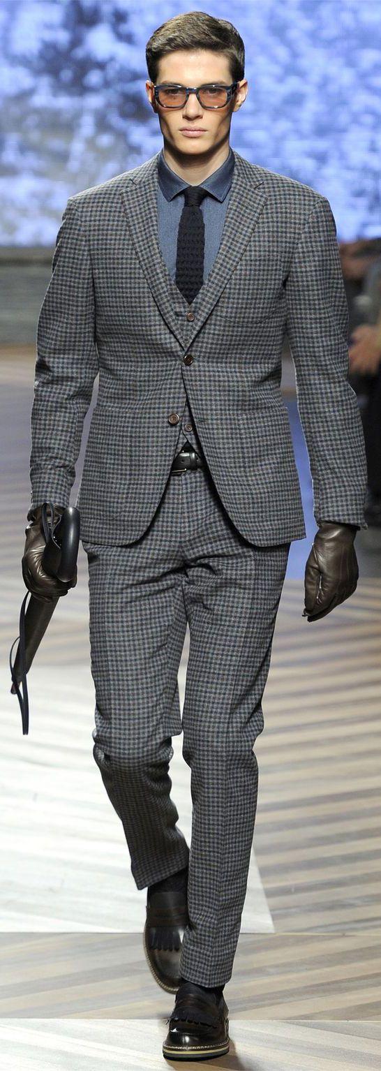 by Ermenegildo Zegna | Plaid Men's Suit | Menswear | Men's Fashion & Style | Men's Clothes | Men's Apparel | Moda Masculina | Shop at designerclothingfans.com